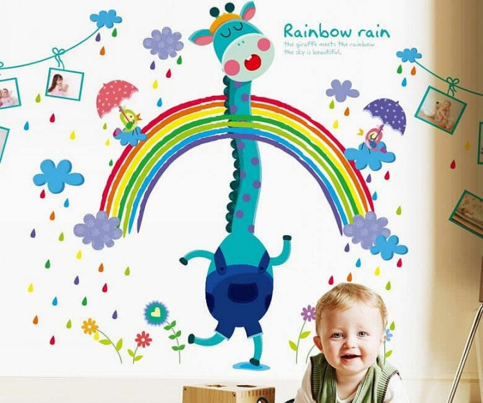 Rainbow Wall Decals For Kids