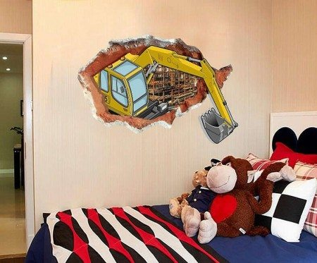 Tractor Digger Wall Stickers