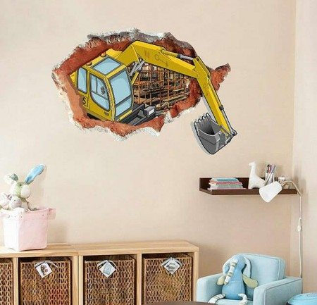 Digger Wall Stickers