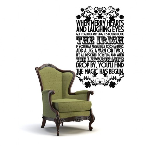 St Patrick's Day Quote Wall Stickers Decals