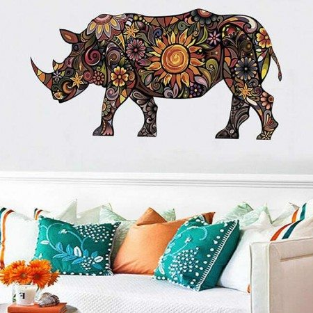 Rhinoceros Wall Stickers