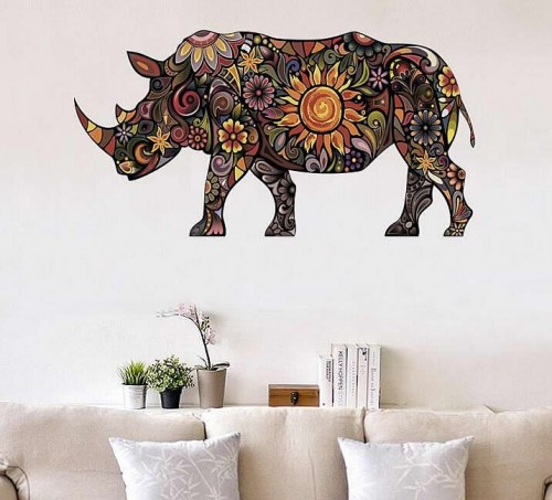 Rhinoceros wall stickers Art