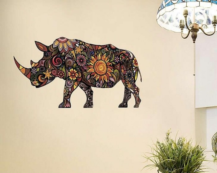 Rhinoceros wall stickers decals