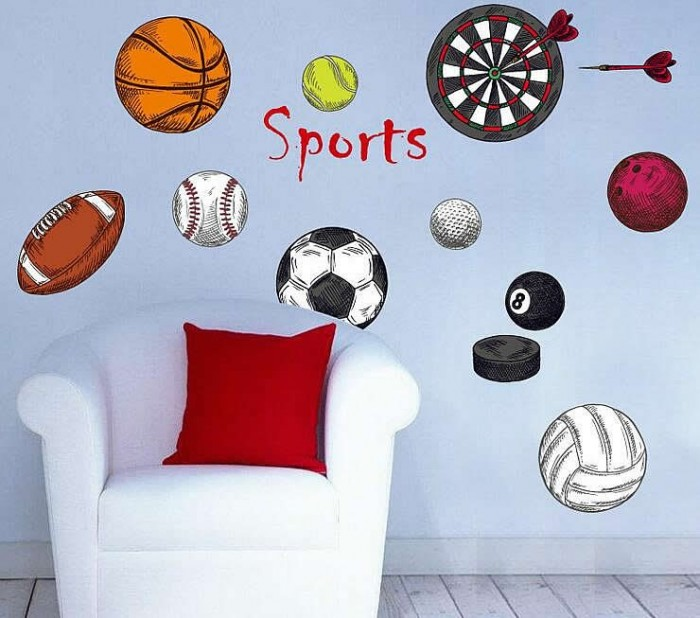 sports wall stickers