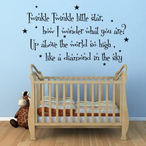 Twinkle Twinkle Little Stars Wall Quotes Stickers