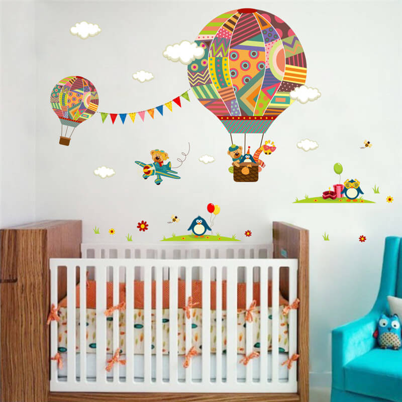 Beau Hot Air Balloon Wall Stickers