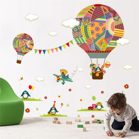 Hot Air Balloon Wall Stickers For Kids