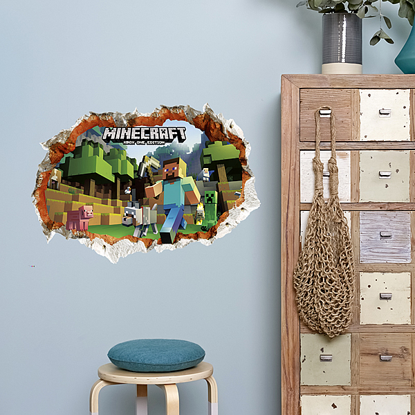 D Minecraft Wall Stickers Wall Decals Wall Stickers For Kids - 3d minecraft wall decals