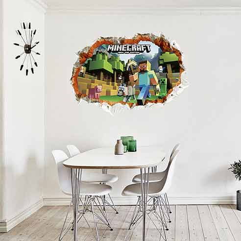 ... Boys Room/3D Minecraft Wall Stickers. ; 