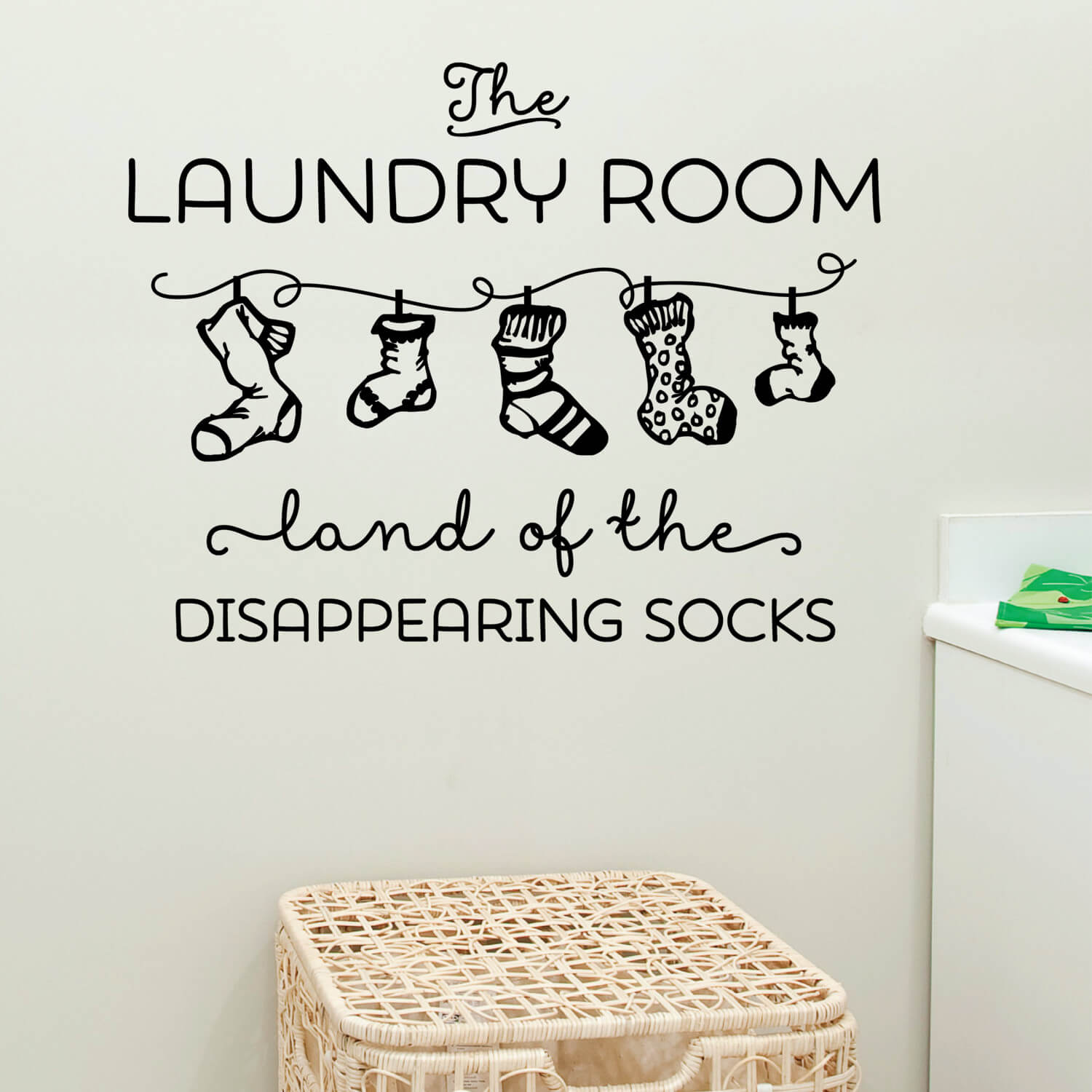 Wall Decal for Laundry Room