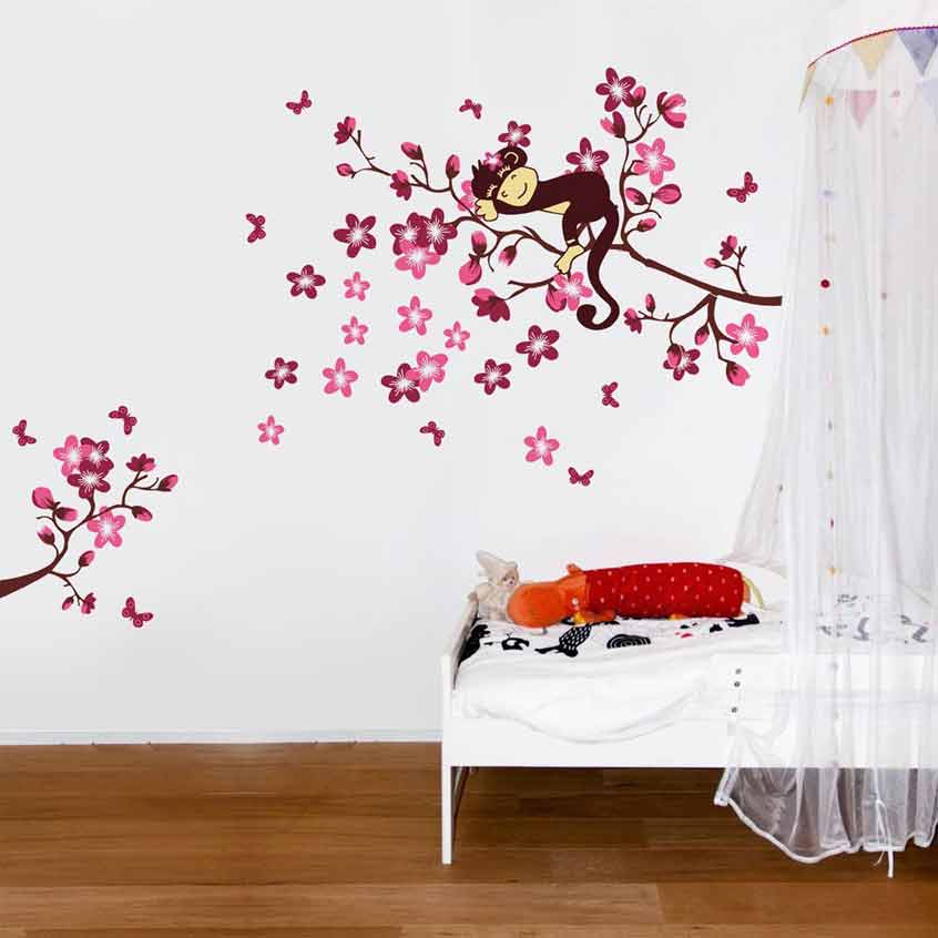 Cute Monkey Wall Stickers Wall Decals Ireland Wall Art - Nursery wall decals ireland