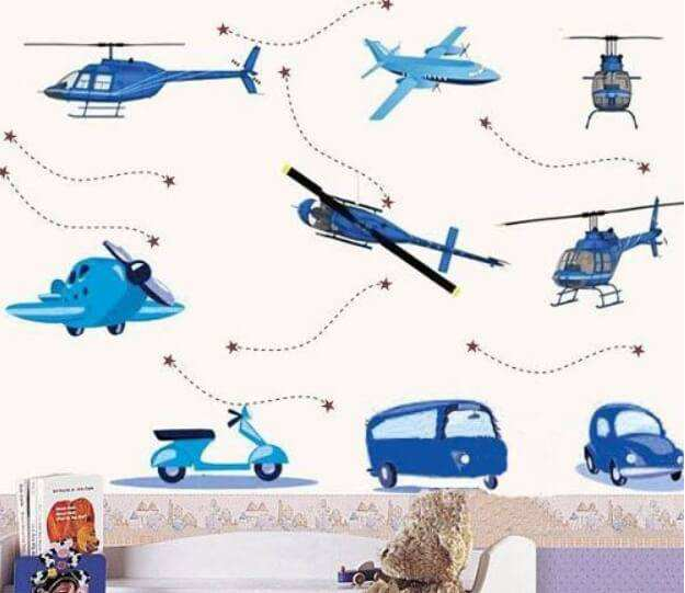 Vehicles Wall Stickers