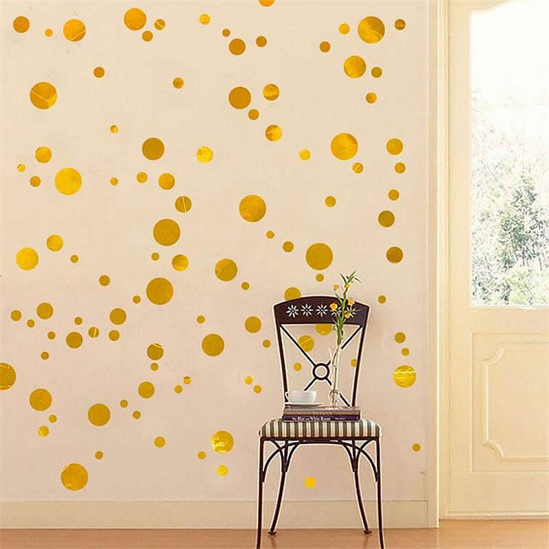 Gold Dots Wall Stickers Wall Decals Wall Stickers For Kids - Wall decals gold dots