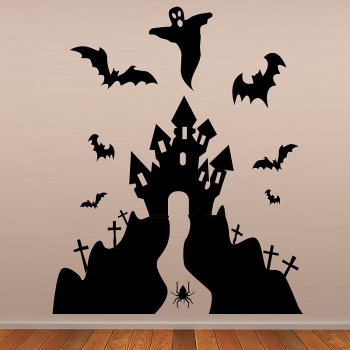 Haunted House Halloween Wall Stickers