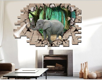 3D Elephant Stickers
