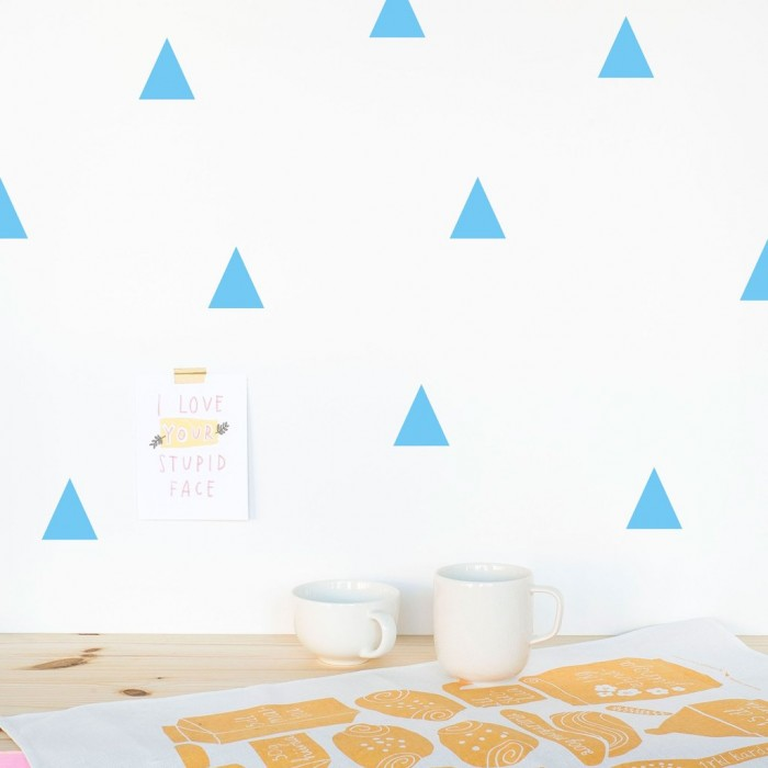 Triangles Stickers Blue