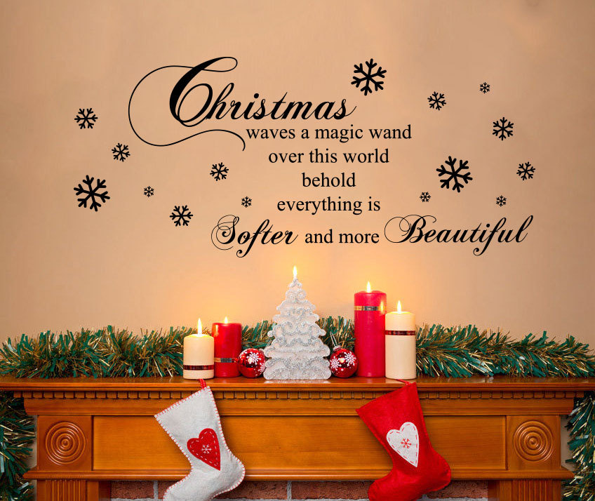 Christmas Quote Wall Decal - Wall Decals™ - Wall Stickers ...