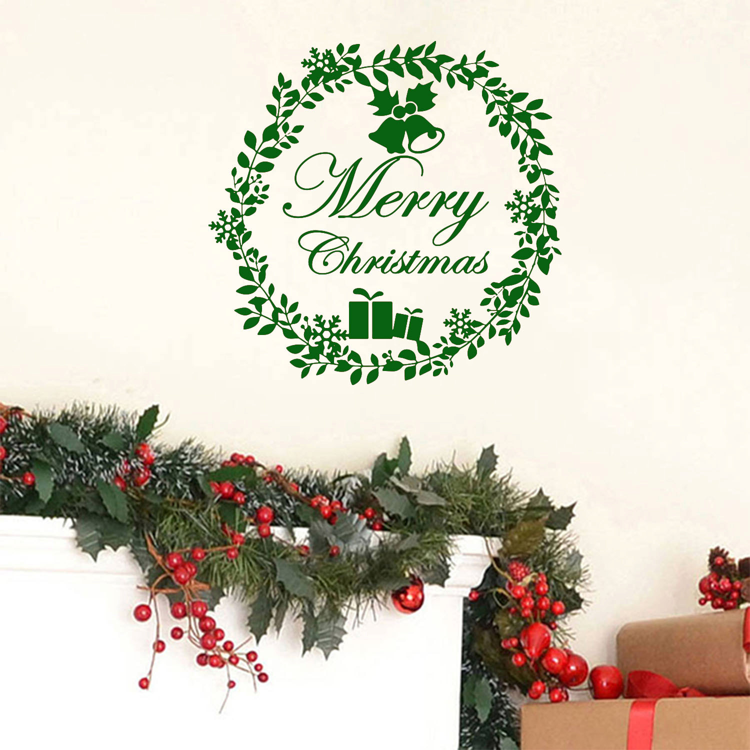 Merry christmas wall decal wall decals wall stickers for kids merry christmas wall decal wall decals wall stickers for kids ireland amipublicfo Choice Image