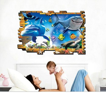 3D Sea Animals Wall Stickers