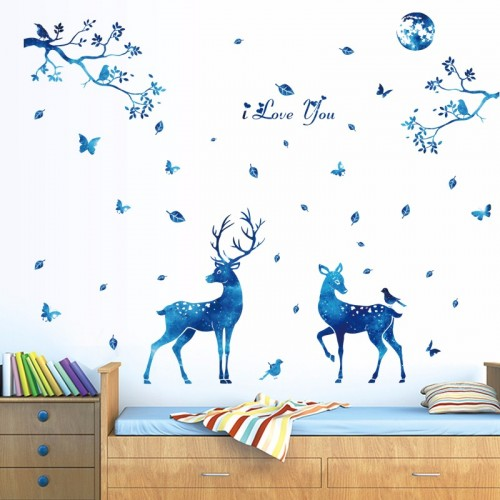 Deer Silhouette Wall Decal Stickers