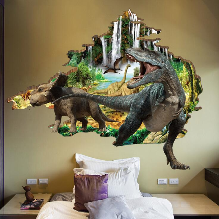 huge dinosaur 3d wall stickers - wall decals™ - wall stickers for