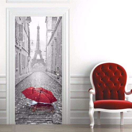 Eiffel Tower Door Wall Stickers