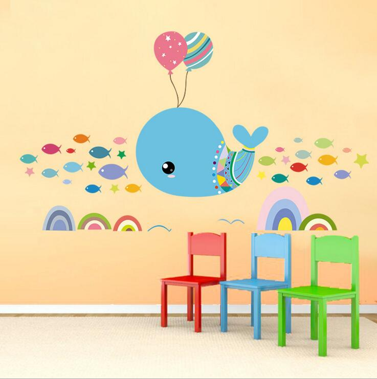 Fish Balloon Wall Stickers For kids - Wall Decals™ - Wall Stickers ...