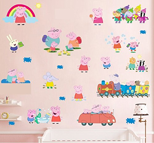 Multi Pack Peppa Pig Wall Stickers Wall Decals Wall Stickers