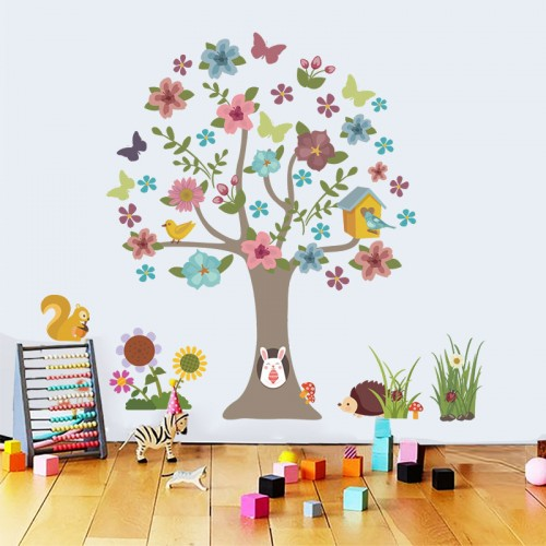 Tree Butterfly Wall Decals For Nursery