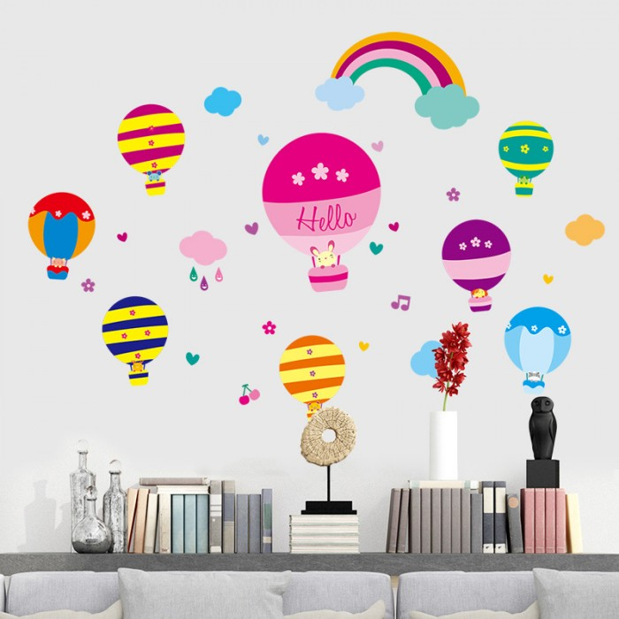 Hot Air Balloon Wall Art Stickers