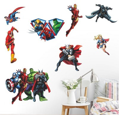 marvel wall stickers kids bedroom
