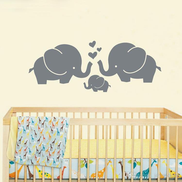 cute elephants wall decals for nursery | wall stickers for kids