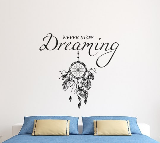 Never Stop Dreaming Wall Decals For Bedroom Wall Art Stickers Decor