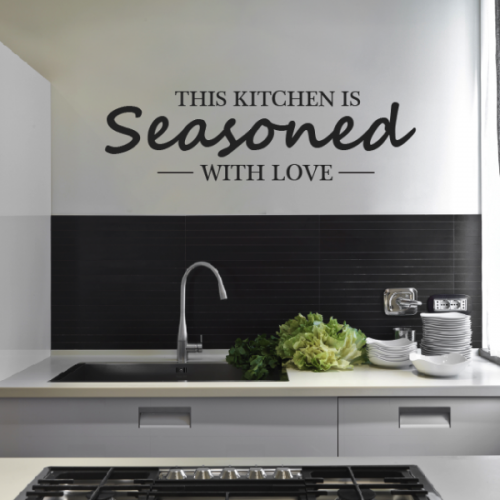 Wallboss Mail: Kitchen Heart Removable Wall Stickers