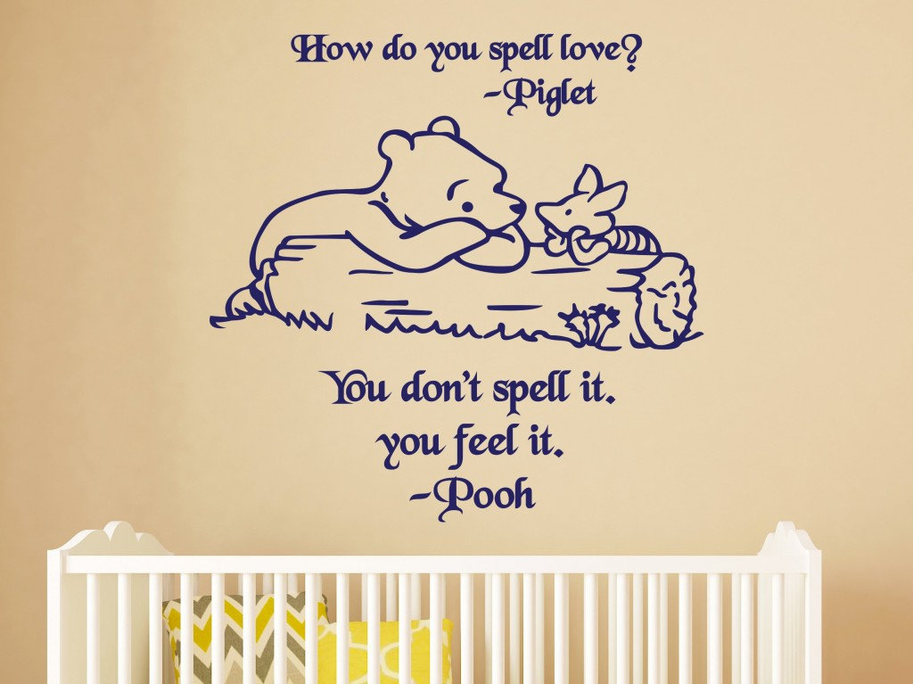 How Do You Spell Love Winnie Wall Decal Wall Decor For Kids