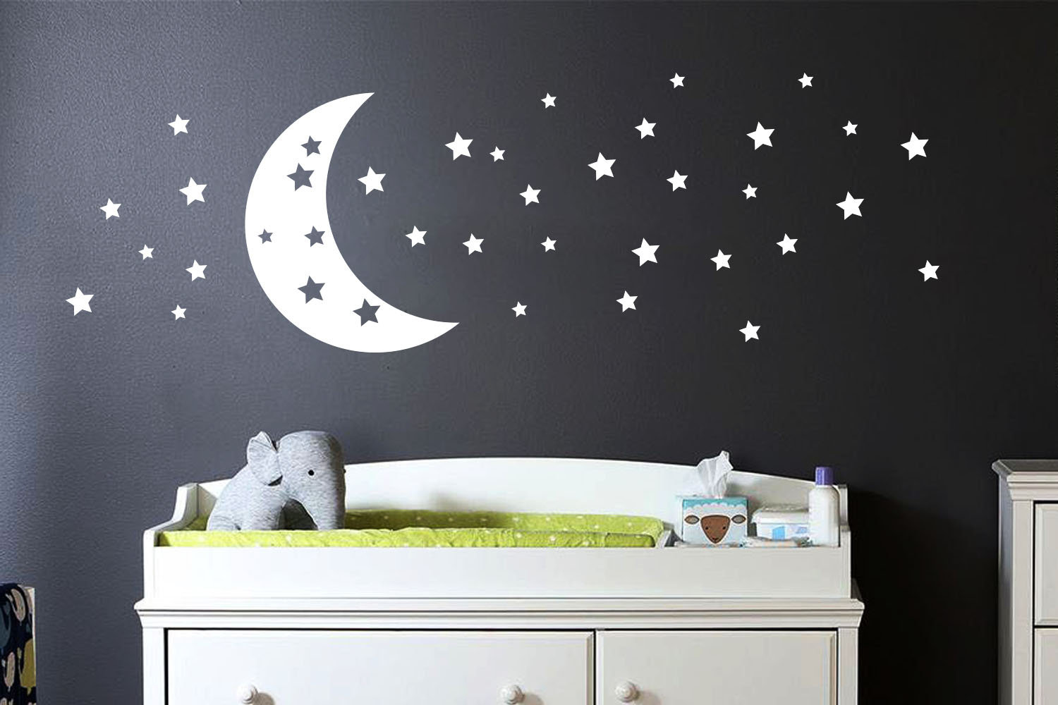 Moon And Stars Wall Art Stickers Wall Decals Ireland