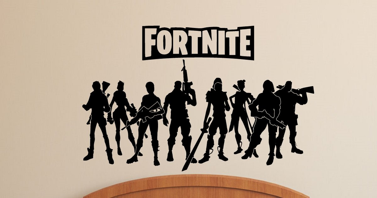 Fortnite Wall Decals Stickers Gamer Wall Stickers Wall