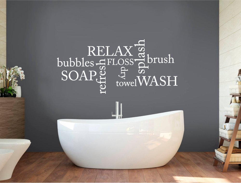 Relax Splash Bathroom Wall Decals Wall Quotes Wall Stickers