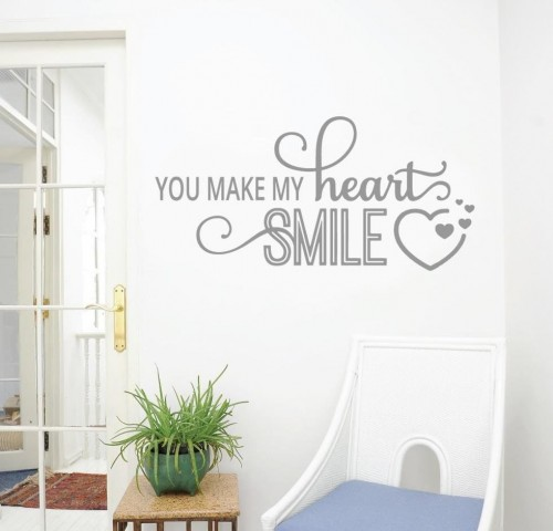 You make my heart smile wall decals