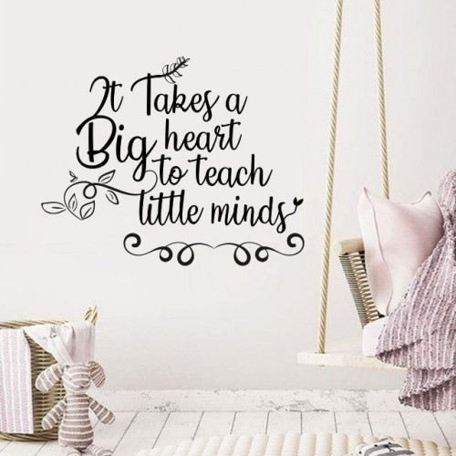 It takes a big heart wall decals