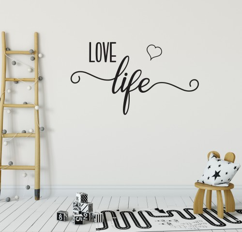 Love life wall sticker