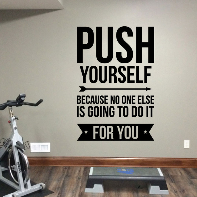 Push Yourself Wall Quote Wall Decals Ireland Stickers