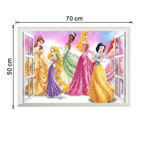 Fairy princesses window sticker