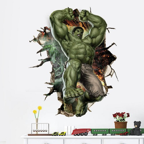 Huge Hulk wall sticker for kids