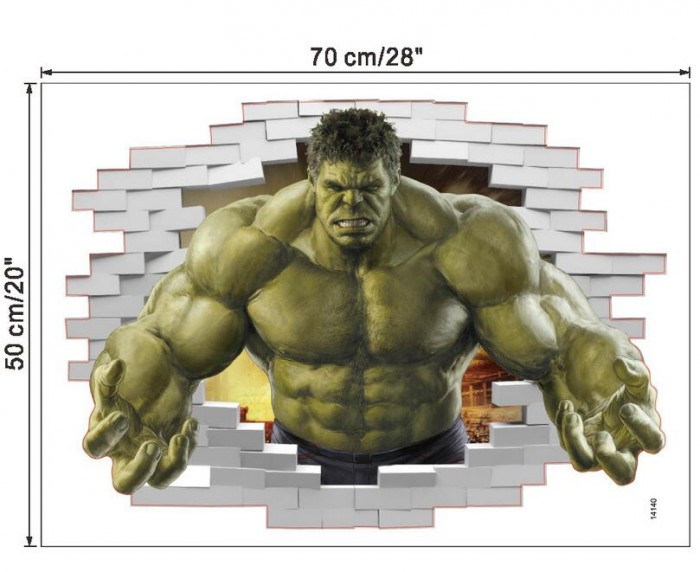 Huge Hulk wall sticker