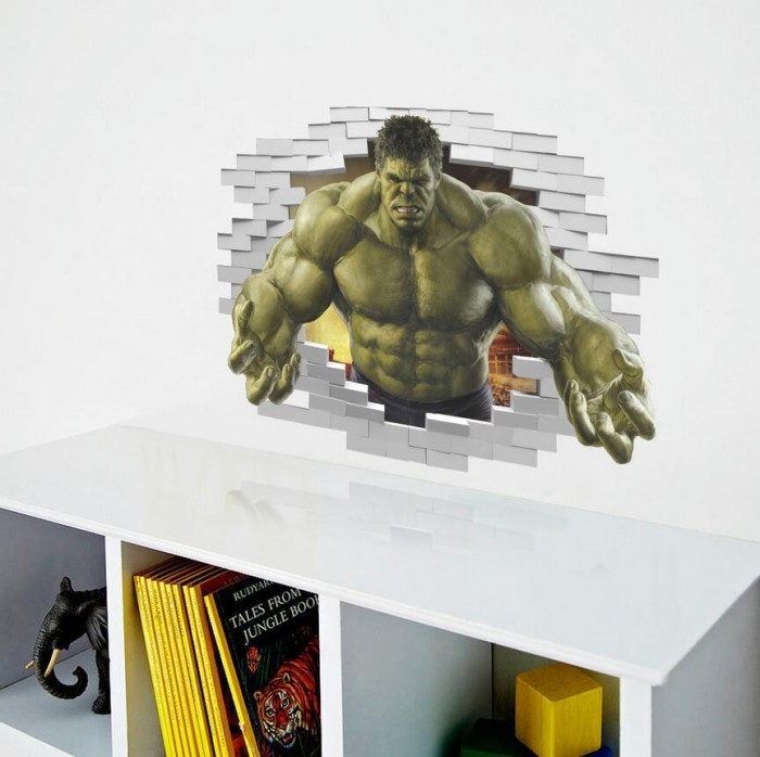 Hulk wall sticker 3D effect