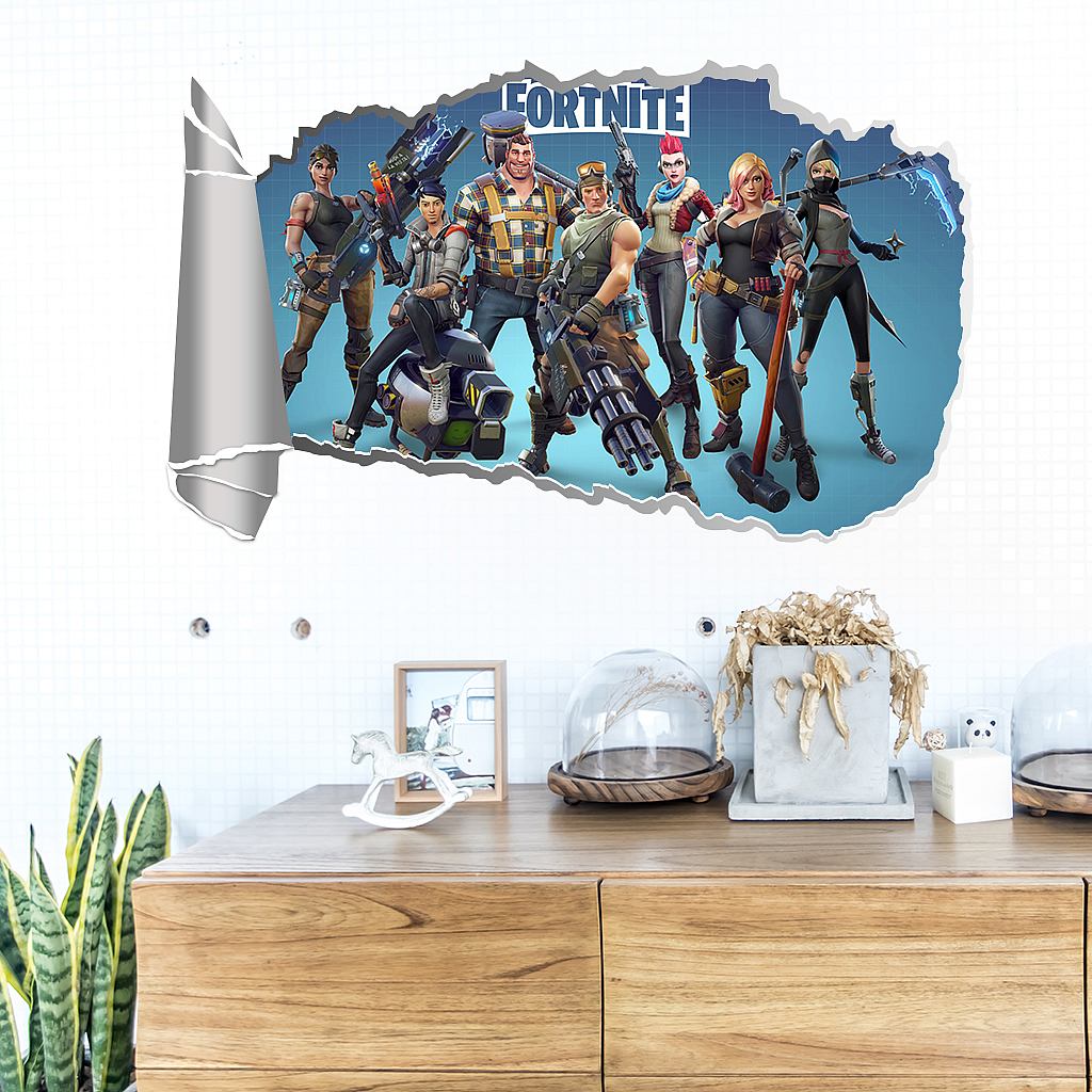 Fortnite sticker 3D effect | wall decals and stickers Ireland