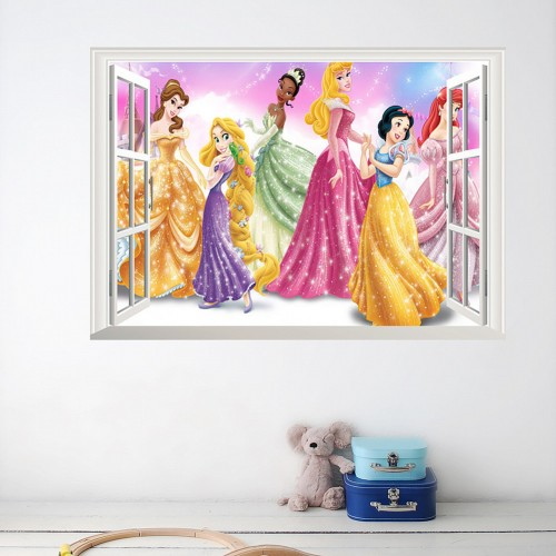 Disney princesses window sticker