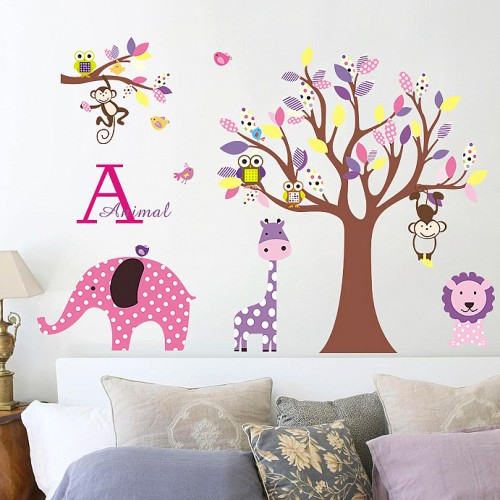 Animal jungle wall stickers for kids