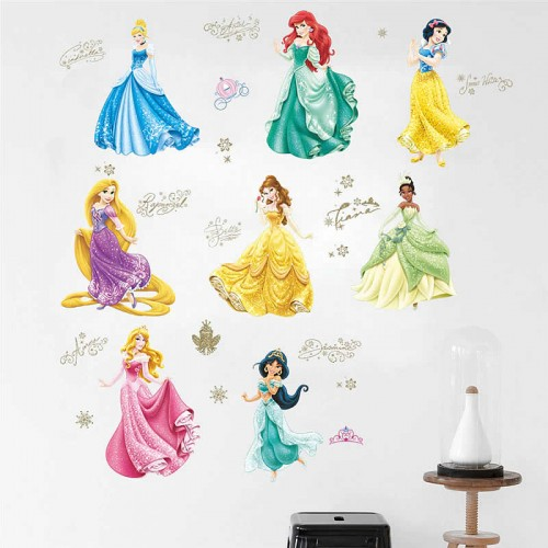 Disney princesses wall stickers for girls